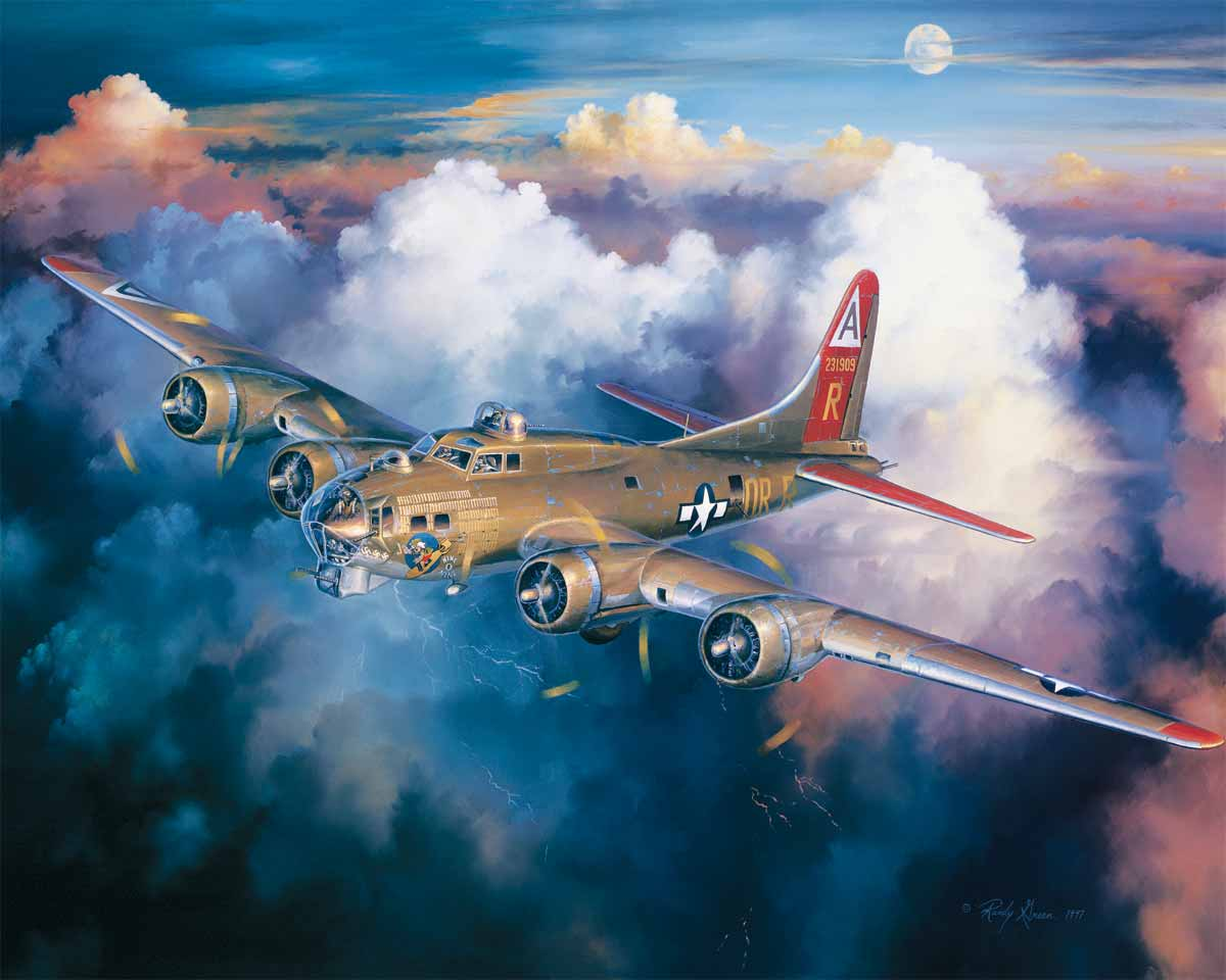 Jigsaw puzzle Airplane B-17 Last Flight of the 909 - 1000 ...