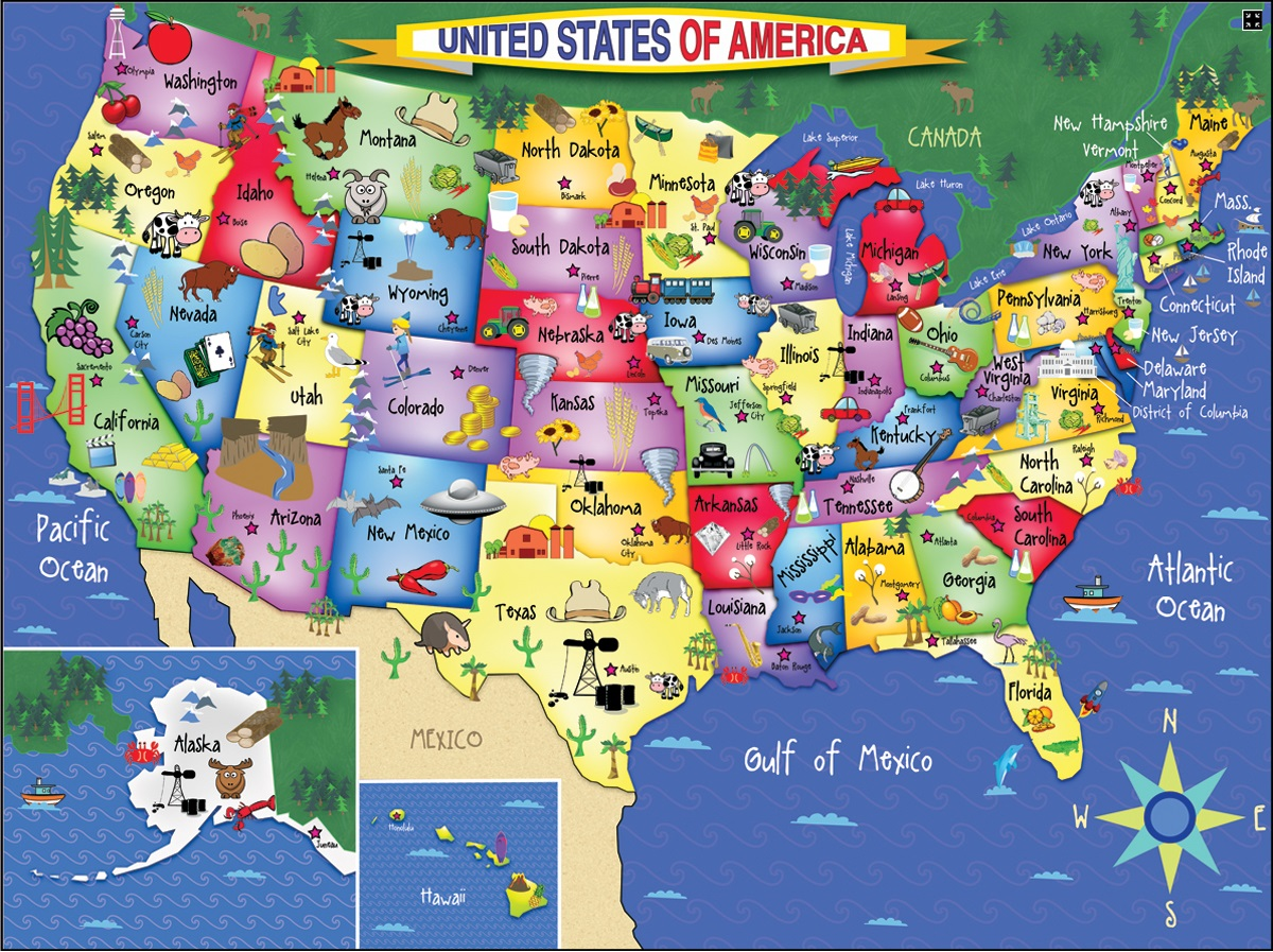 GeoSeeker USA New Geography Seek And Find Games From Selectsoft - Us states map new york