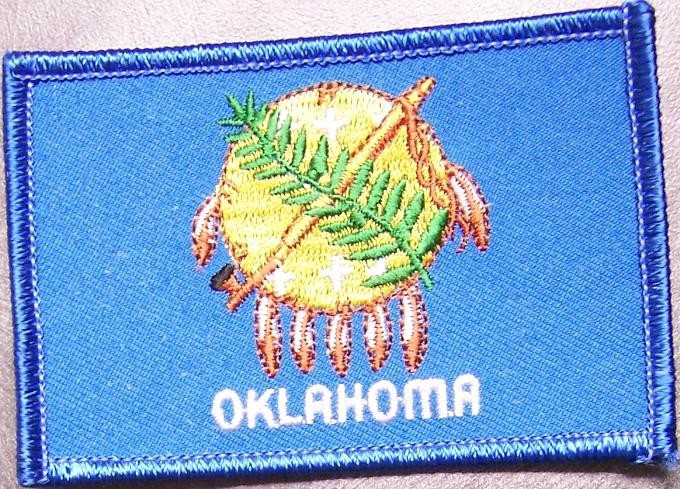 Embroidered usa state patch oklahoma new flag ebay