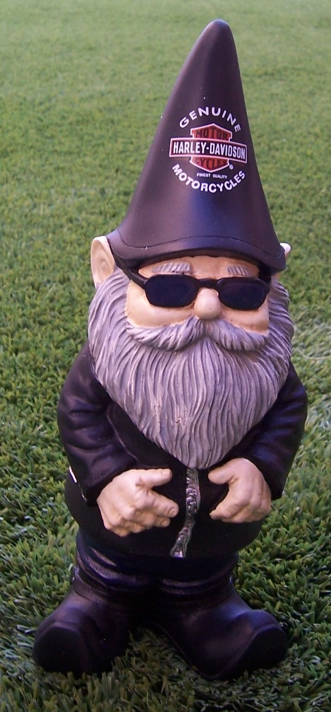 Gnome In Garden: Garden Accent Extra Large Gnome Harley Davidson NEW 10 1/2