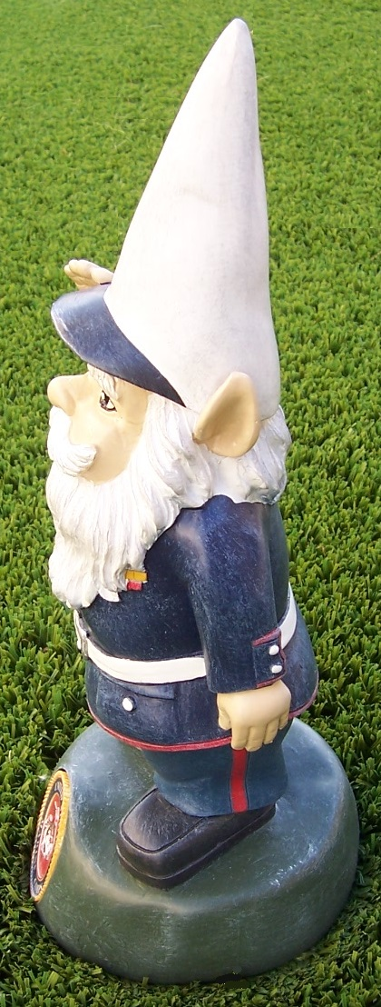 """Garden Accent Extra Large Military Gnome U S Marine Corps Lawn USMC NEW 13/"""" tall"""