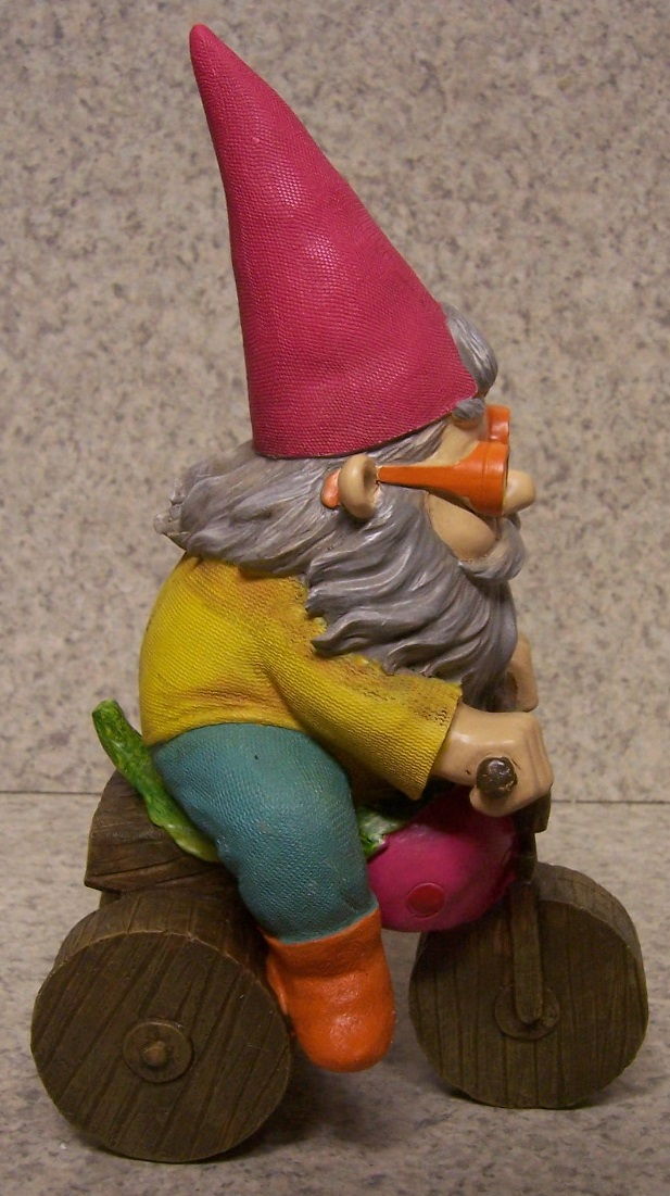 Gnome In Garden: Garden Accent Extra Large Tricycle Gnome NEW Freestanding