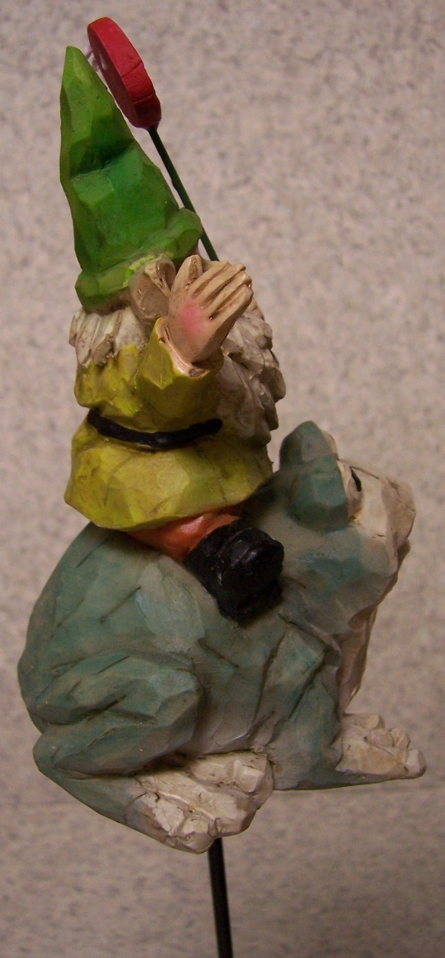 Garden Accent Welcome to my Garden Gnome NEW freestanding or mount ...