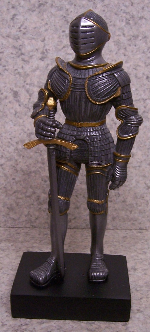 Figurine Medieval Knight Armor Gothic With Sword New 9 With Gift Box Ebay