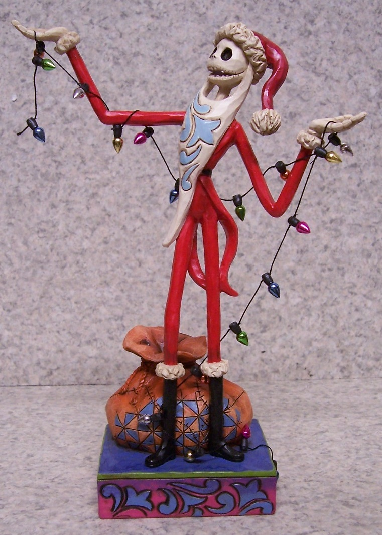 Figurine Nightmare Before Christmas Jack with String of Lights NEW w ...