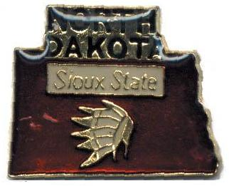 Details about Hat Lapel Push Pin Tie Tac State of North Dakota NEW