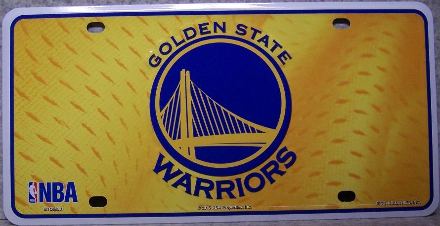 0271f10881b7da NBA Aluminum License Plate Golden State Warriors NEW   eBay
