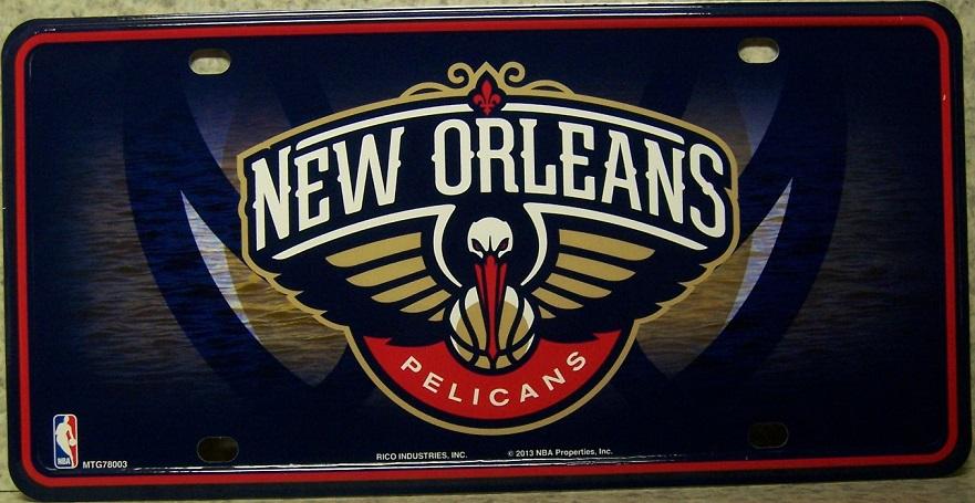NBA Aluminum License Plate New Orleans Pelicans NEW 32085843647
