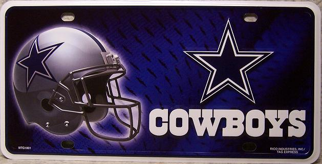 NFL Aluminum License Plate Dallas Cowboys New