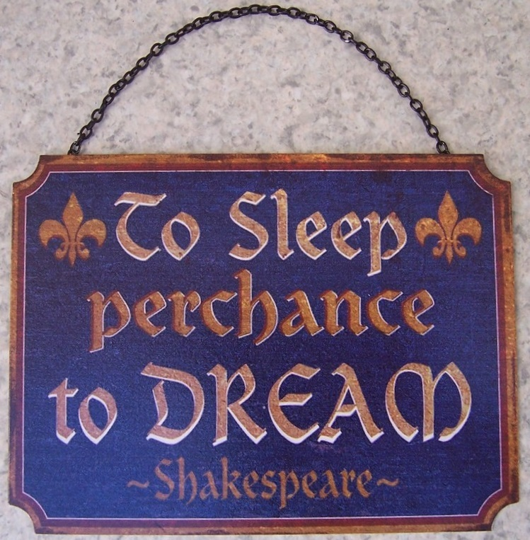 Details about Metal Sign Medieval Prayer To Sleep Perchance To Dream NEW 5  1/4