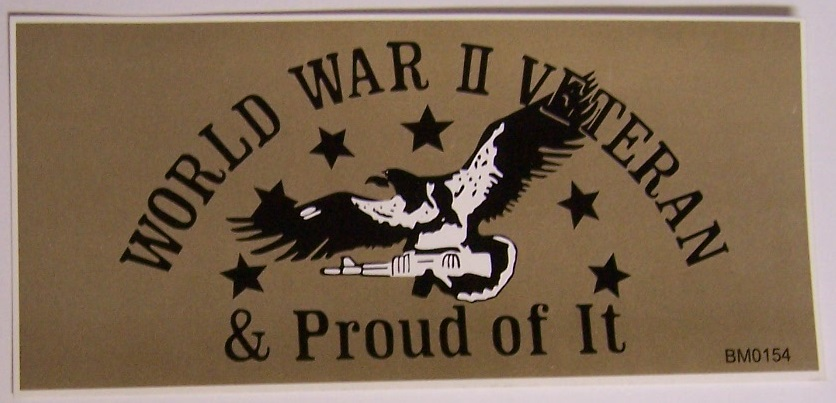 Bumper sticker made in the usa and measuring 3 x 6 1 2 for interior or exterior use