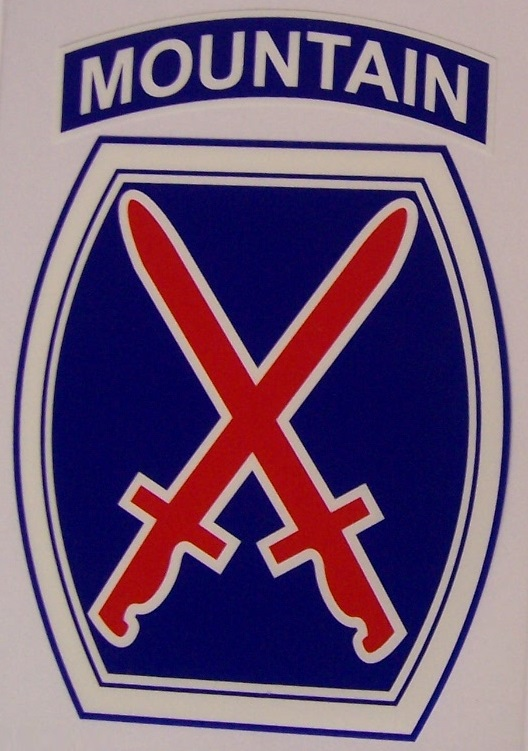 US Army 10th Mountain Division #2 Car  Wall Window Vinyl Decal Sticker Military