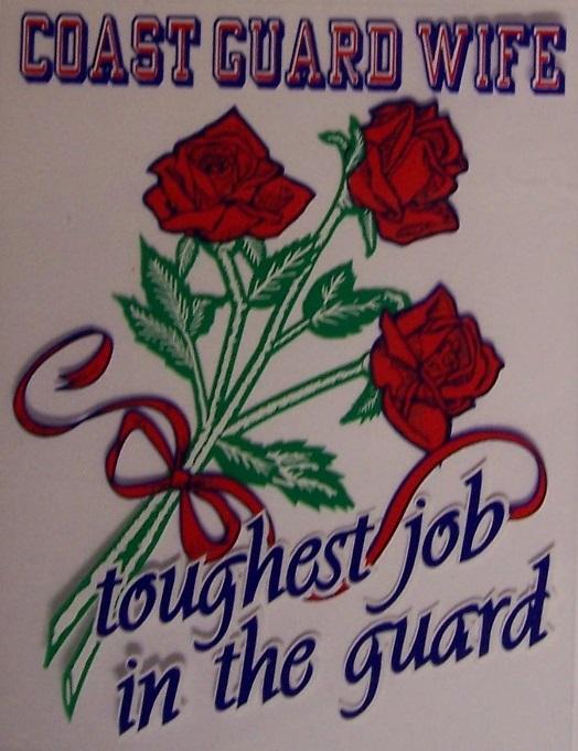 Coast Guard Wife Rose Military Decal