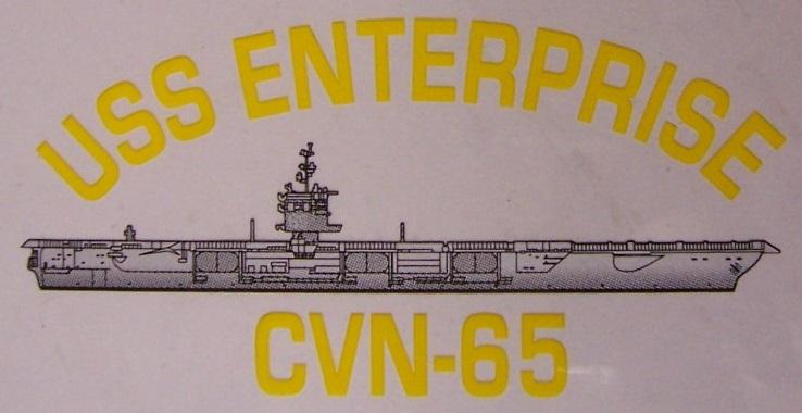"USS ENTERPRISE CVN 65 Decal 4/""X 4/"" US NAVY Military"