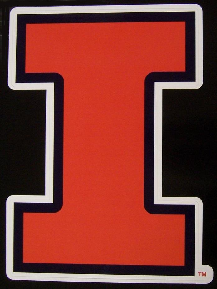 "Illinois Fighting Illini NCAA Vinyl Car Bumper Window Sticker Decal 5/""X5/"""