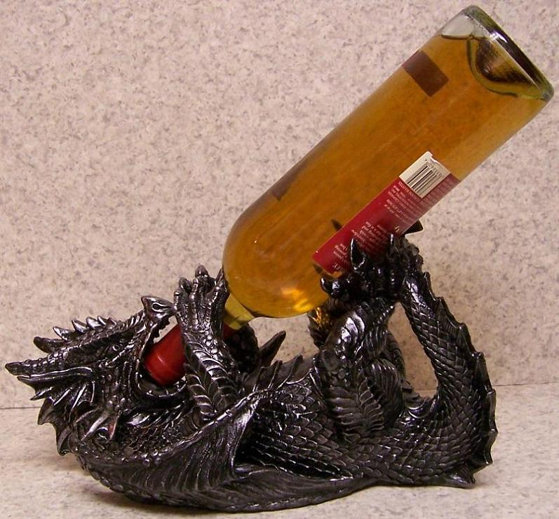 Wine Bottle Holder Andor Decorative Sculpture Medieval Dragon NEW Inspiration Decorative Wine Bottle Holders