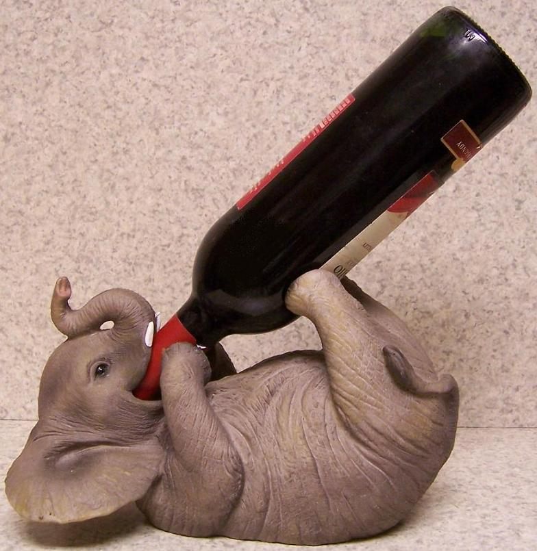 Decorative Wine Bottle Holders Endearing Wine Bottle Holder Andor Decorative Sculpture Elephant Pachyderm Design Inspiration