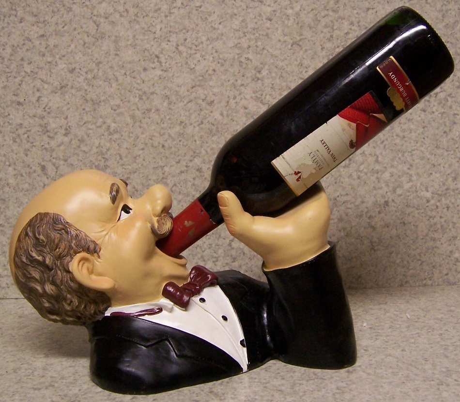 Wine Bottle Holder Andor Decorative Sculpture The Butler Did It New