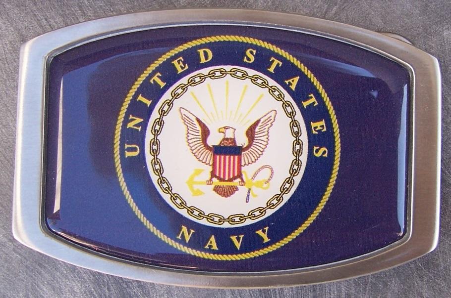 Military Belt Buckle Pewter U S Navy Insignia Emblem Logo New