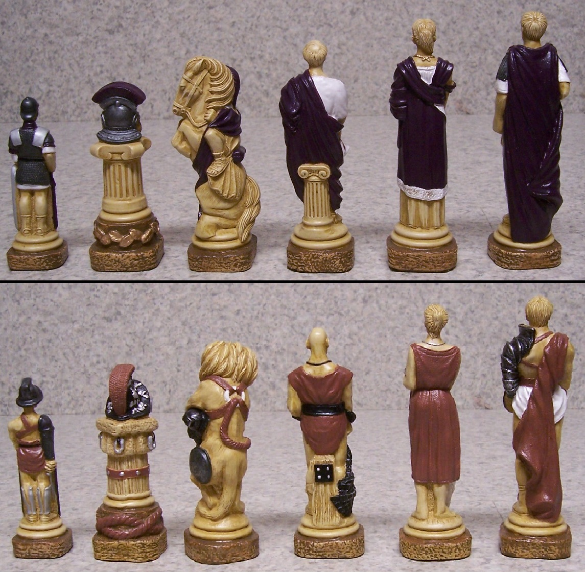 Chess Set Pieces Spartacus Vs The Roman Empire New Extra
