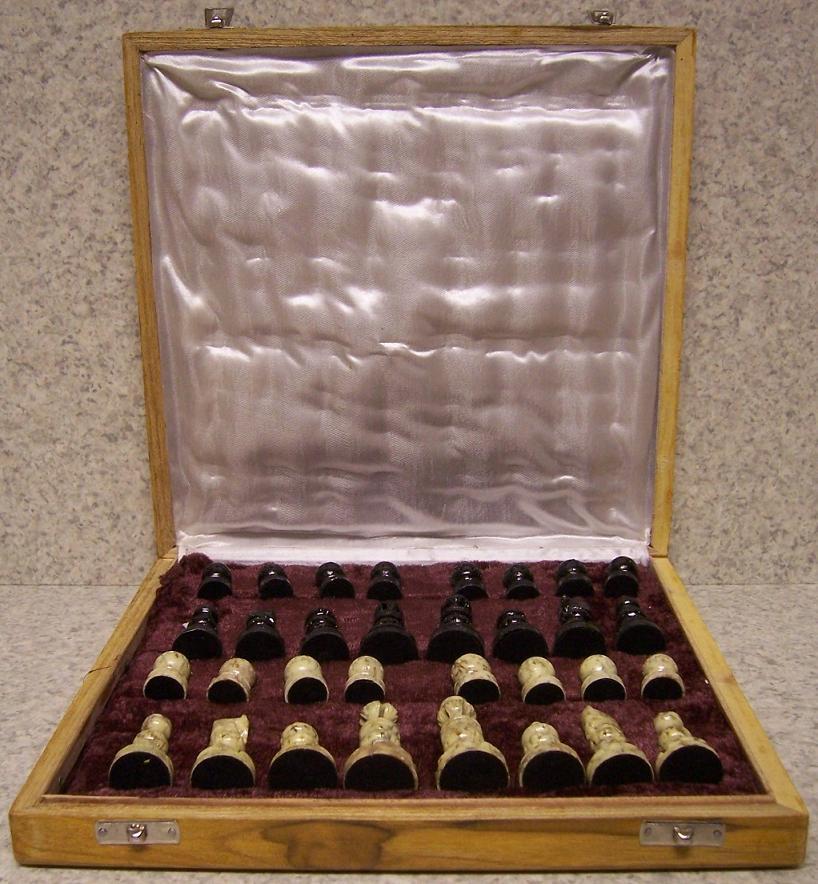 Balance Board India: Chess Set & Wood Storage Box Board India Maharaja Hand