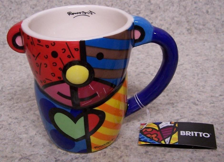 Coffee Mug Romero Britto Animal Royal Dog NEW 11 ounce cup with gift box