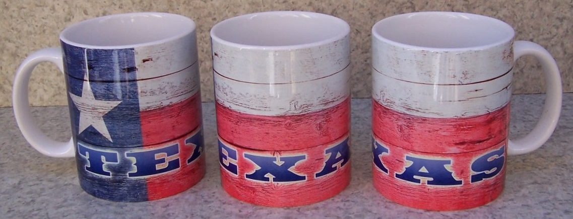 Coffee Mug Explore America Texas State Flag NEW 11 ounce cup with gift box
