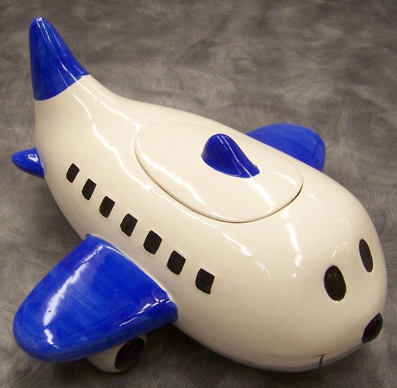 Airplane Cookie Jar 2