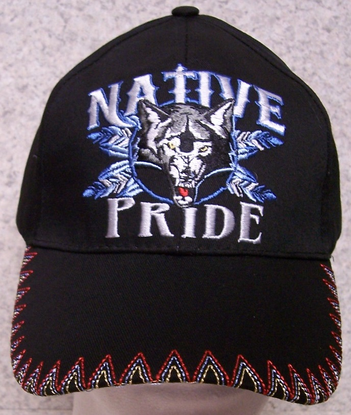 f0981d83104 Native Pride Wolf The back of all of our hats have an adjustable strap so