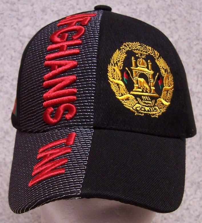 The front of the cap features the Afghan National Coat of Arms while the  side of the cap features the Afghan national flag. c08f470626d