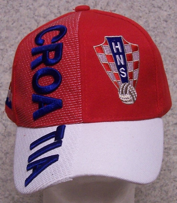 Embroidered Baseball Cap Soccer International Croatia Football Federation NEW