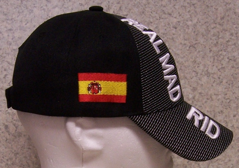 766c9680923 The front of the cap features the emblem of the Real Madrid Club de Futbol  while the side of the cap features the Spanish national flag.