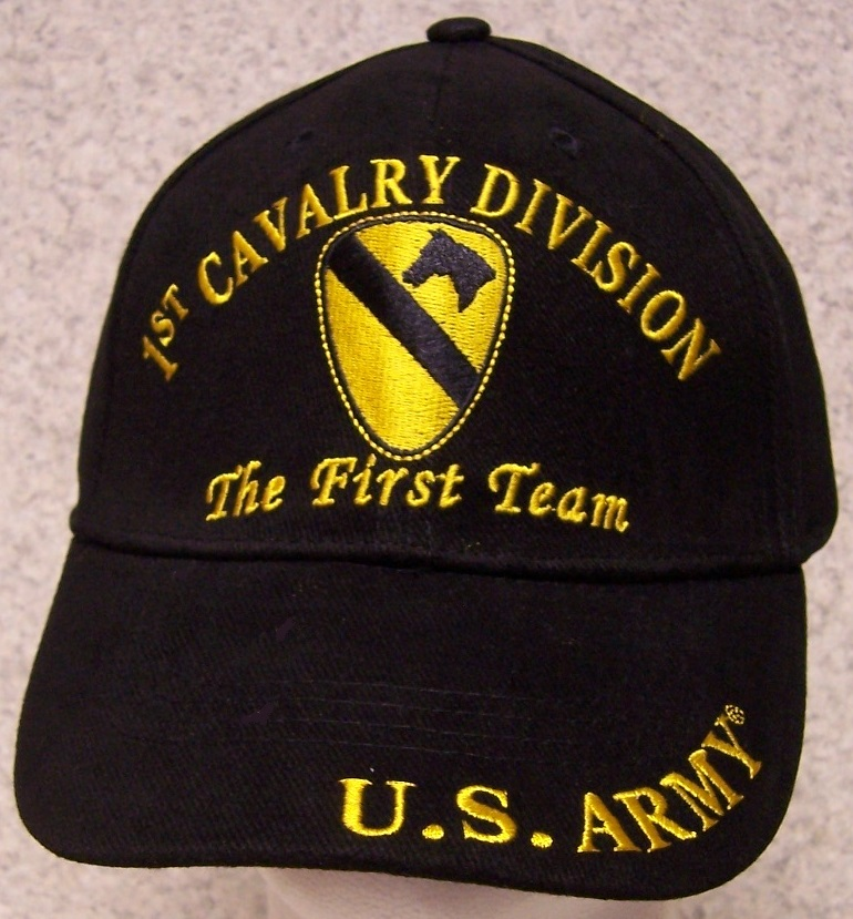 Embroidered Baseball Cap Military Army 1st Cavalry Division NEW 1 ... a816c3c02b1