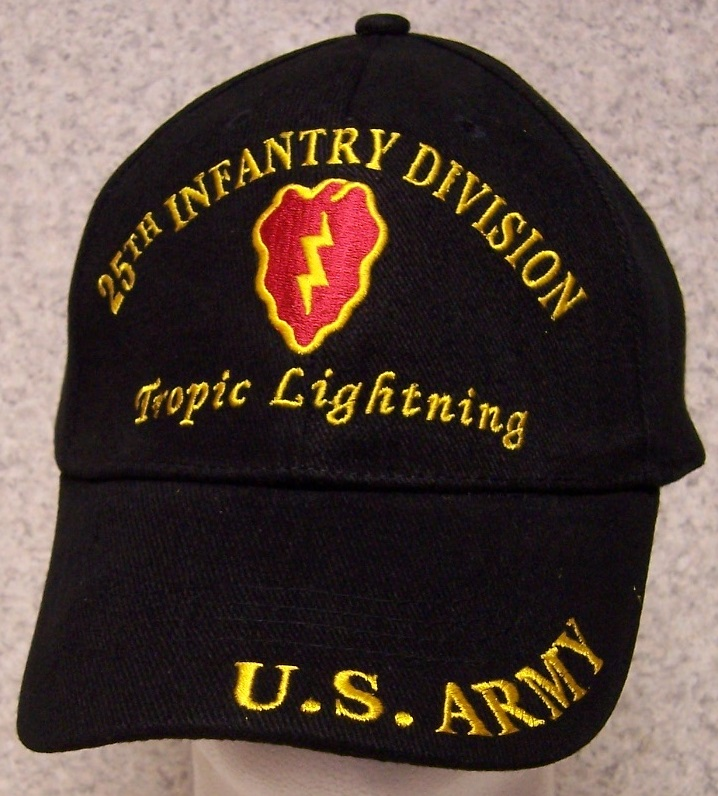 bc7031d8b Embroidered Baseball Cap Military Army 25th Infantry Division NEW 1 ...