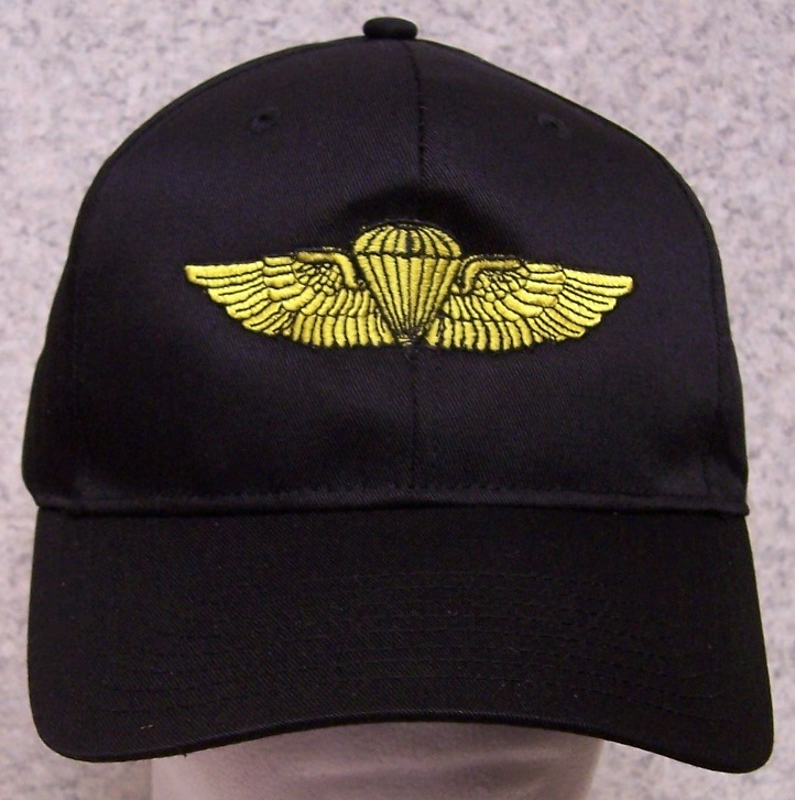 021071cbcdd Embroidered Baseball Cap Military Marine Navy Jump Wings NEW 1 hat ...