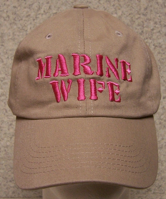 52e5fc4391d91f U S Marine Corps Wife Just one of the many hats we offer commemorating the  men and women who stand in harm's way. And the families they leave behind.