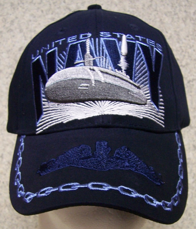 Embroidered Baseball Cap Military Navy Submarine Service NEW 1 hat ... 86647d26867