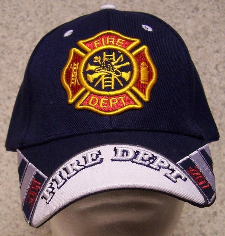 Embroidered Baseball Cap Fire Department Emblem NEW 1 hat size fits ... 90df8d57e8b