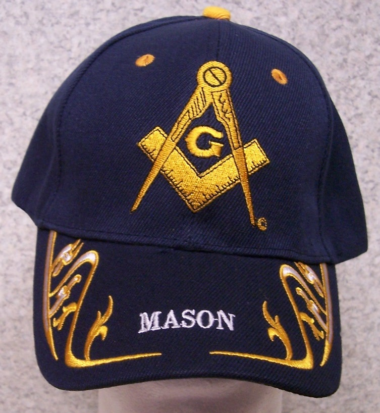 dedbc3324b3 Details about Embroidered Baseball Cap Fraternal Free Mason Masonic NEW 1  hat size fits black