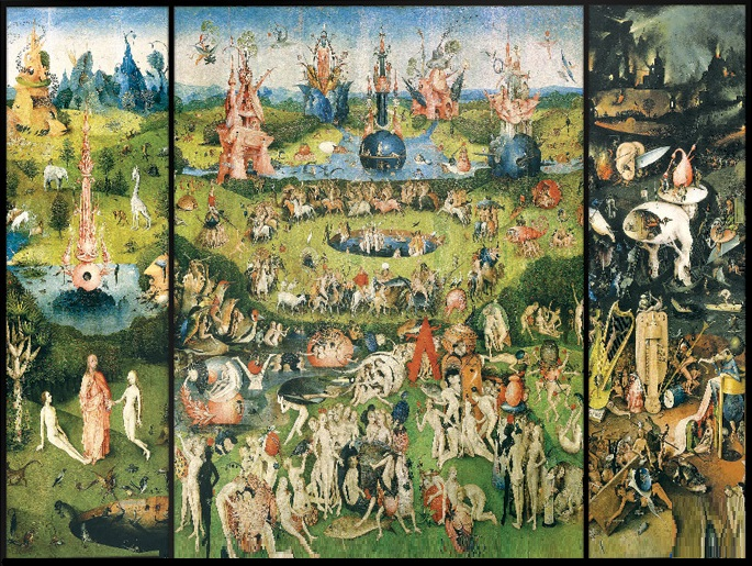 Details about Jigsaw puzzle Medieval Garden of Earthly Delights 1000 piece  NEW Made in the USA