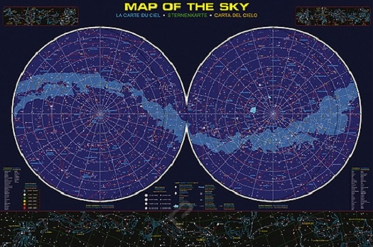 astrological map of the sky