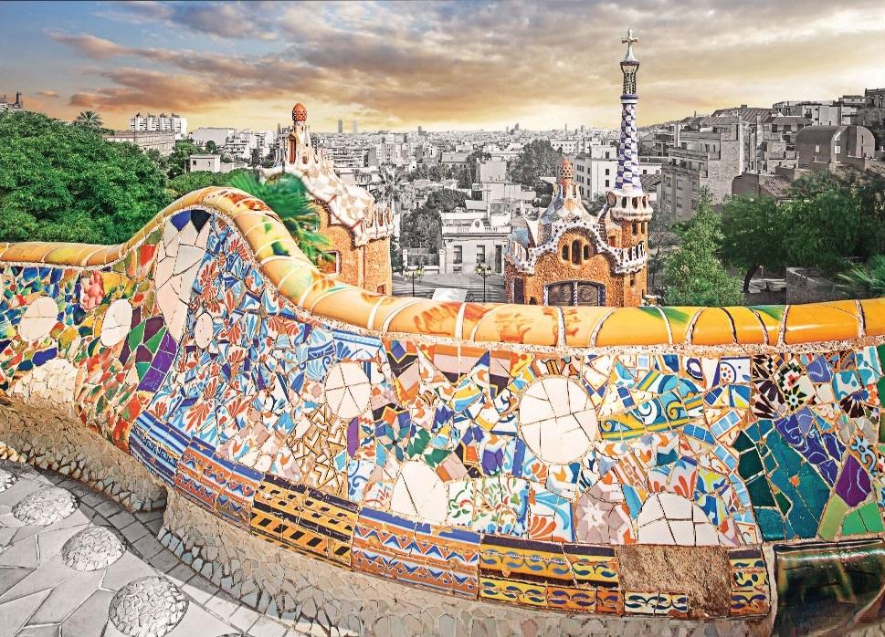 Jigsaw Puzzle International Park Guell Barcelona Spain 1000 Piece