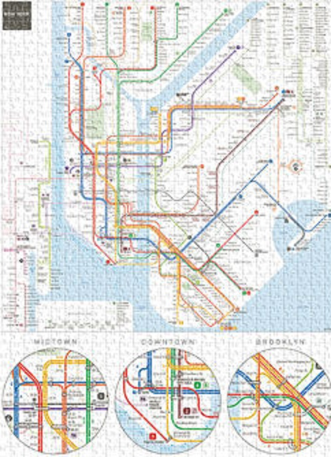 New York Subway Map Puzzle.Details About Jigsaw Puzzle Trains Subway System Map New York City 500 Pieces New