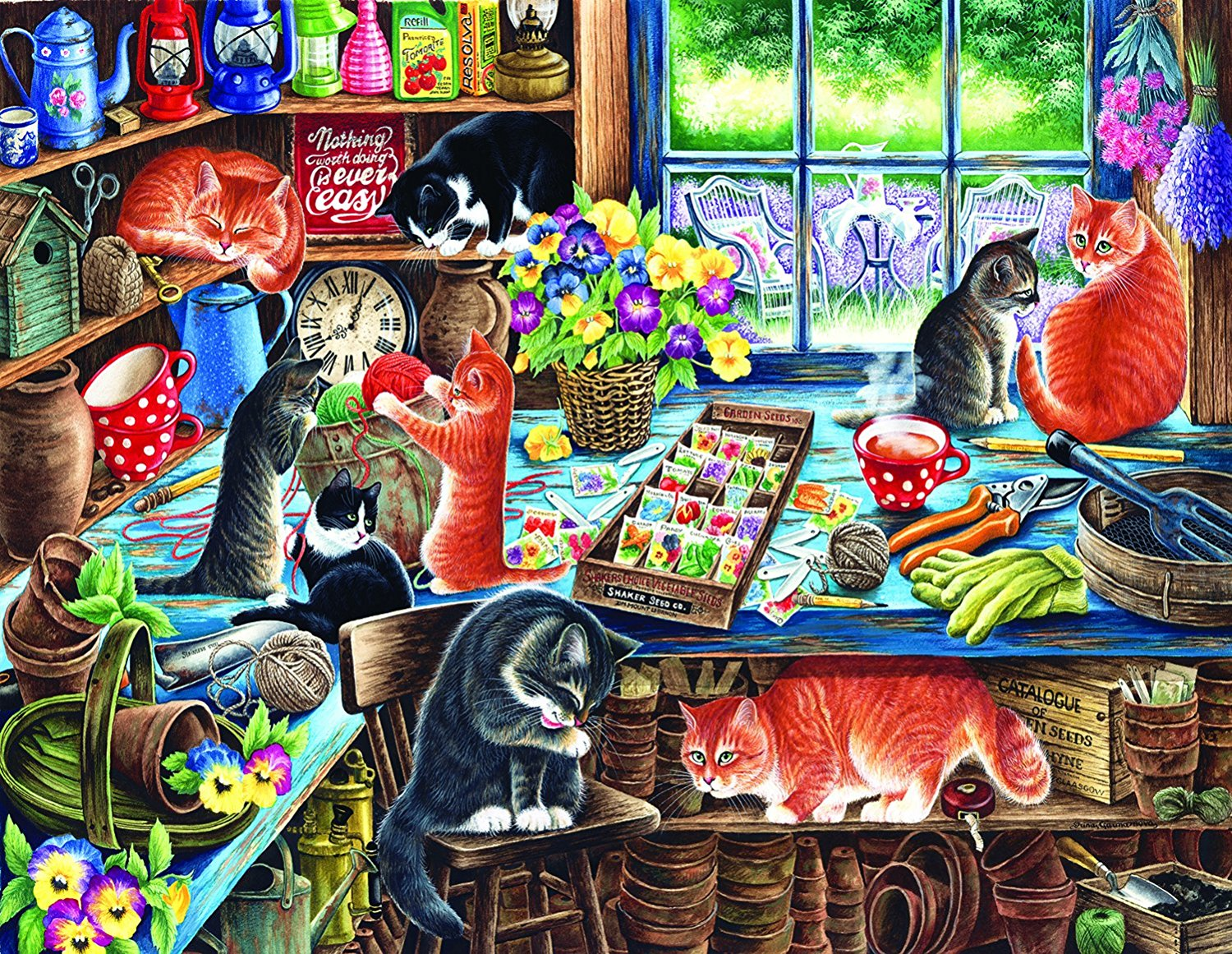In a Garden Shed by Sunsout 1000 piece Jigsaw Puzzle