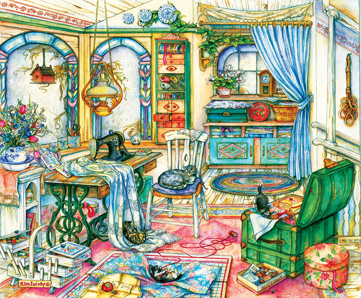 My Sewing Room by Sunsout 1000 piece Jigsaw Puzzle