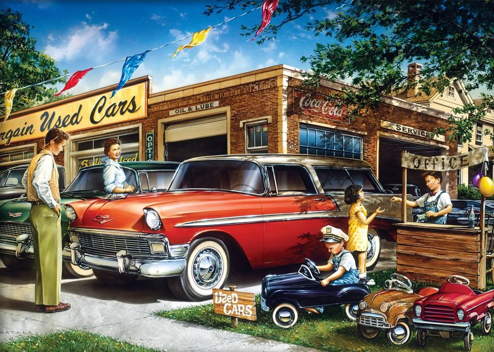 Jigsaw puzzle Car Bargain Used Cars 1000 piece NIB 689829183349 | eBay