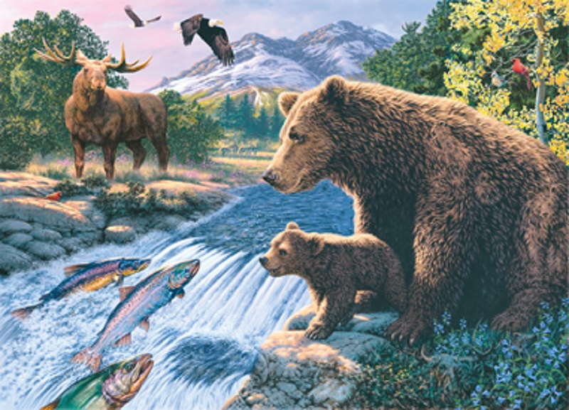 jigsaw puzzle animal into the wild glow in the dark hidden images