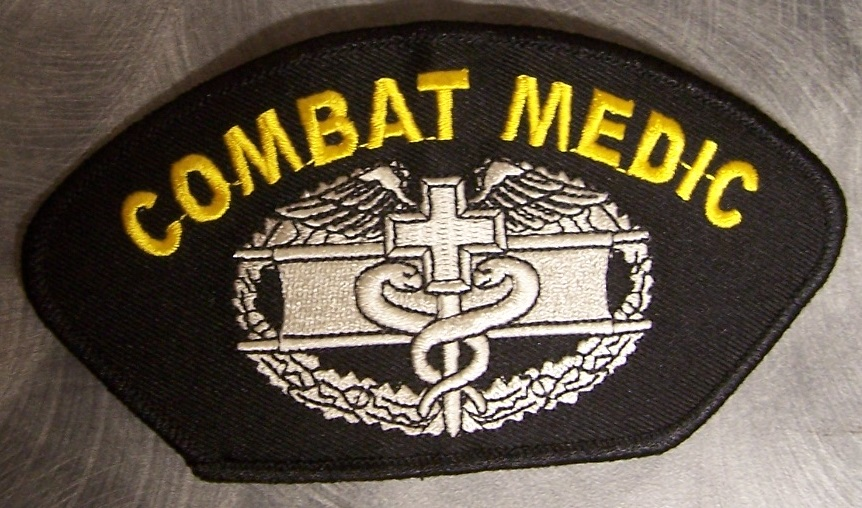 Embroidered Military Patch Combat Medic Badge New Large 5x2 Ebay