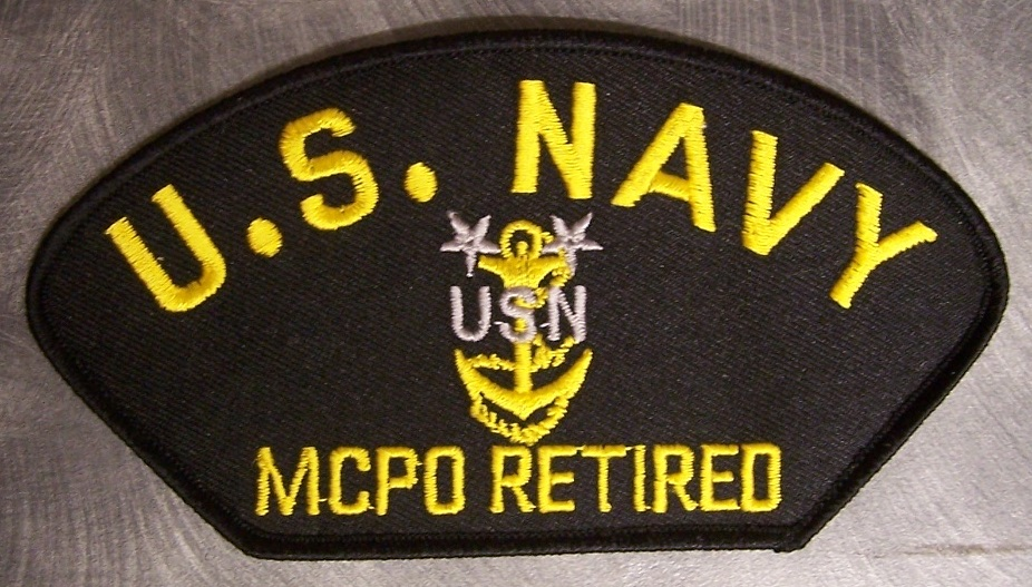NAVY SCPO RETIRED E-8 SENIOR CHIEF PETTY OFFICER EMBROIDERED MILITARY PATCH