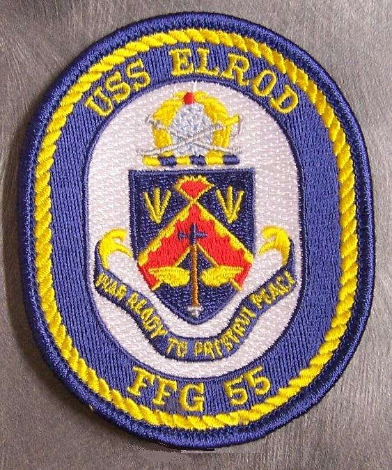 Navy USS Elrod Ffg-55 Vinyl Transfer Durable Multifunctional Backpack 17 Inch